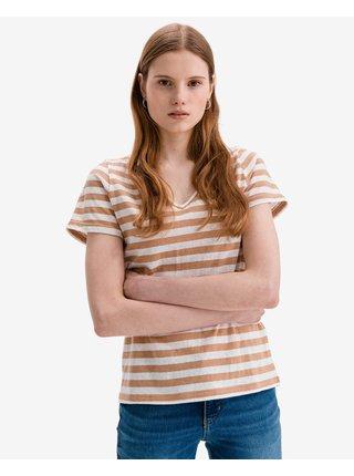 Tričká s krátkym rukávom pre ženy ICHI - béžová