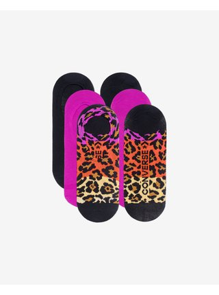 Ombre Colorblock Archive Leopard MFC Ox Ponožky 3 páry Converse