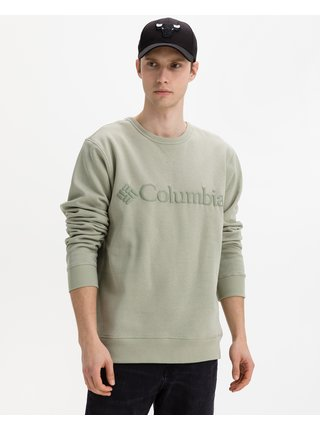 Mikiny bez kapuce pre mužov Columbia - zelená