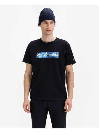 Tričká s krátkym rukávom pre mužov Columbia - čierna