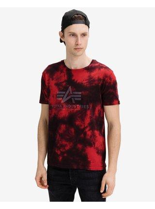 Tričká s krátkym rukávom pre mužov ALPHA INDUSTRIES - červená