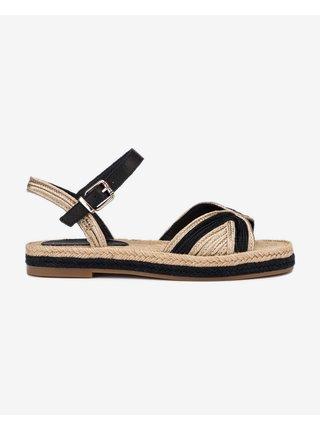 Sandále pre ženy Tommy Hilfiger - hnedá, zlatá