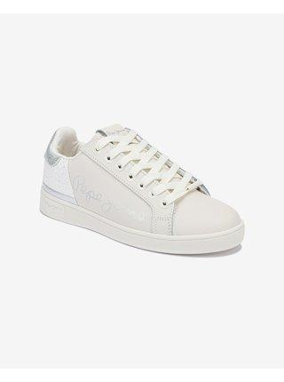 Tenisky pre ženy Pepe Jeans - biela