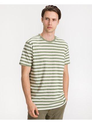 Tričká s krátkym rukávom pre mužov Blend - zelená, béžová