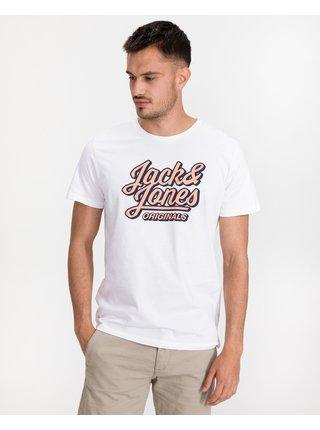 Tričká s krátkym rukávom pre mužov Jack & Jones - biela