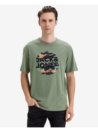 Tričká s krátkym rukávom pre mužov Jack & Jones - zelená, sivá