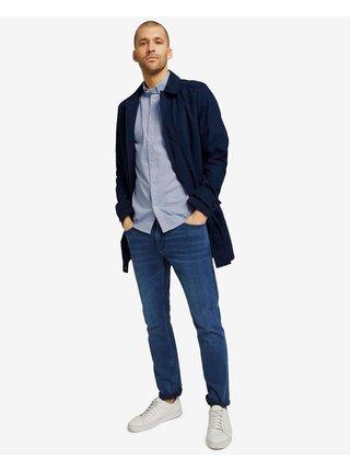 Košele s krátkym rukávom pre mužov Tom Tailor - modrá