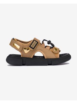 Sandále pre ženy Scotch & Soda - hnedá, zlatá