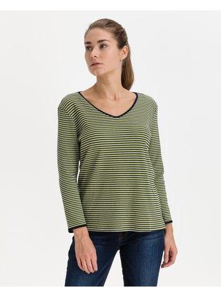 Tričká s dlhým rukávom pre ženy Tom Tailor - zelená