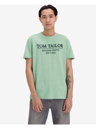 Tričká s krátkym rukávom pre mužov Tom Tailor - zelená