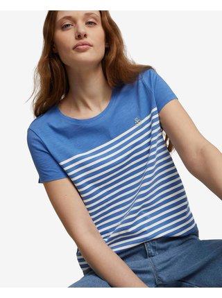 Tričká s krátkym rukávom pre ženy Tom Tailor Denim - modrá, biela