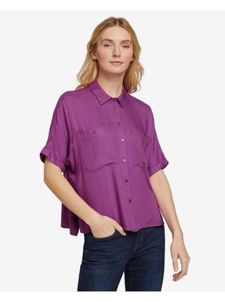 Tričká s krátkym rukávom pre ženy Tom Tailor - fialová
