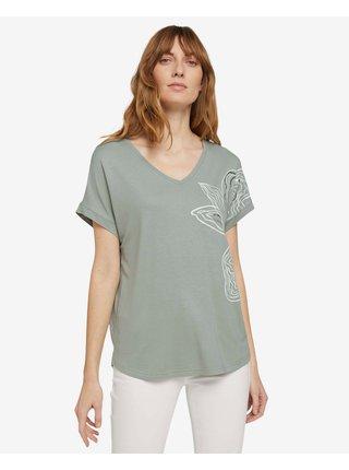 Tričká s krátkym rukávom pre ženy Tom Tailor - zelená