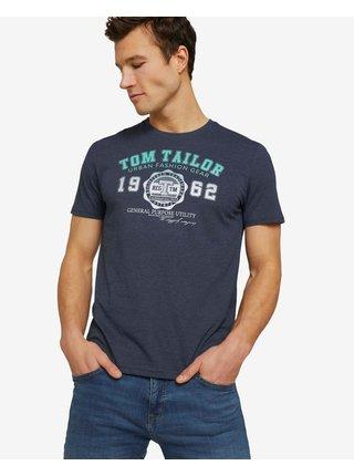 Tričká s krátkym rukávom pre mužov Tom Tailor - modrá