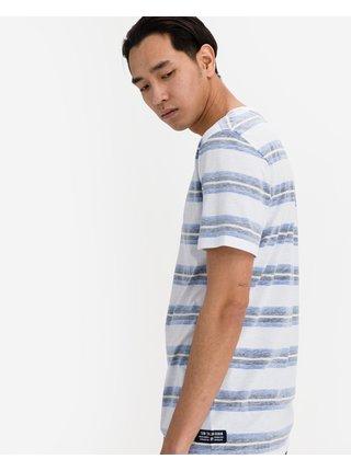 Tričká s krátkym rukávom pre mužov Tom Tailor Denim - modrá, biela