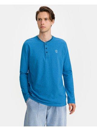 Tričká s dlhým rukávom pre mužov Tom Tailor - modrá