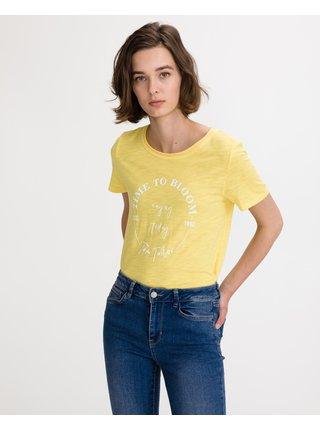 Tričká s krátkym rukávom pre ženy Tom Tailor - žltá