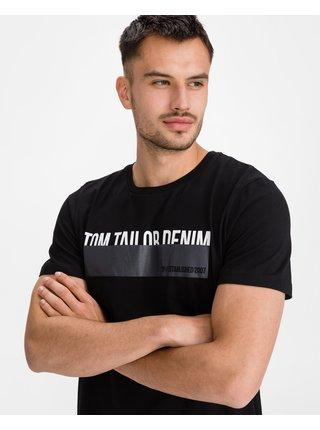 Tričká s krátkym rukávom pre mužov Tom Tailor Denim - čierna
