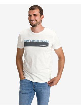 Tričká s krátkym rukávom pre mužov Tom Tailor Denim - béžová