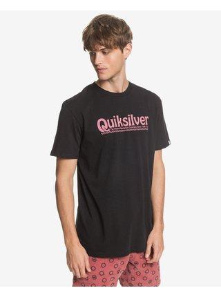 Tričká s krátkym rukávom pre mužov Quiksilver - čierna