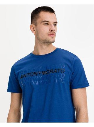 Tričká s krátkym rukávom pre mužov Antony Morato - modrá
