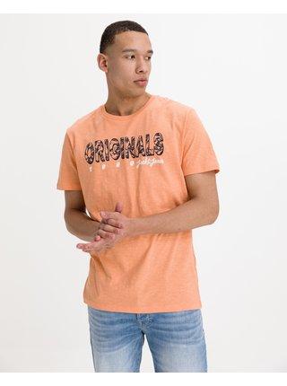 Tričká s krátkym rukávom pre mužov Jack & Jones - oranžová