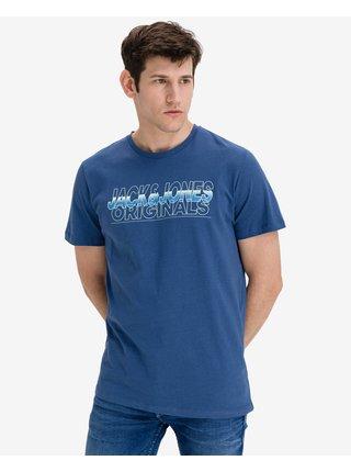 Tričká s krátkym rukávom pre mužov Jack & Jones - modrá