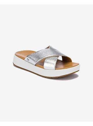 Papuče, žabky pre ženy UGG - strieborná, béžová