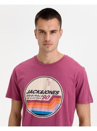Tričká s krátkym rukávom pre mužov Jack & Jones - fialová