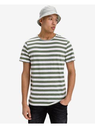 Tričká s krátkym rukávom pre mužov Jack & Jones - zelená, biela