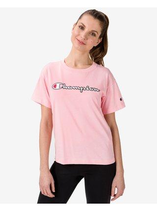 Tričká s krátkym rukávom pre ženy Champion - ružová, béžová