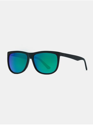 Horsefeathers GABE gloss black/mirror green sluneční brýle pilotky - černá