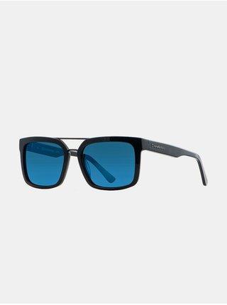 Horsefeathers CARTEL gloss black/mirror blue sluneční brýle pilotky - černá