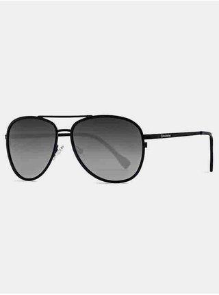 Horsefeathers GLOSTER matt black/mirror white sluneční brýle pilotky - černá
