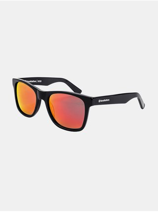 Horsefeathers FOSTER gloss black/mirror red sluneční brýle pilotky - černá
