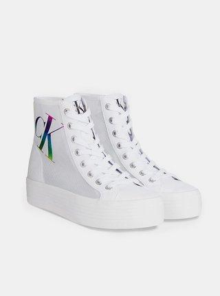 Bílé kotníkové tenisky Calvin Klein Vulcanized