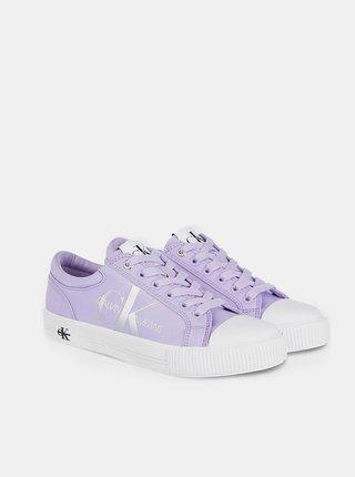 Levandulové tenisky Calvin Klein Vulcanized Sneaker