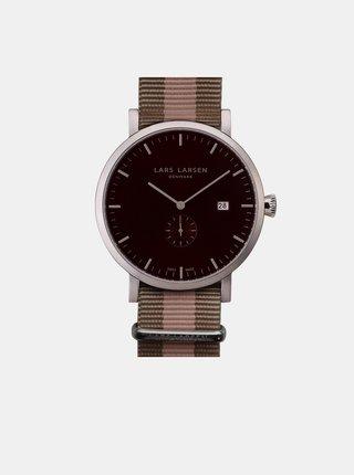 Pánské hodinky s páskem v hnědé barvě LLarsen