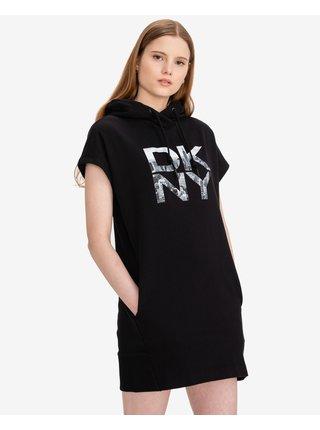 Stacked City Logo Šaty DKNY
