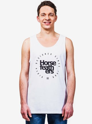 Horsefeathers EMBLEM white pánská tílko - bílá