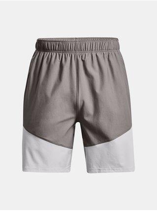 Kraťasy Under Armour UA Knit Woven Hybrid Shorts- šedá