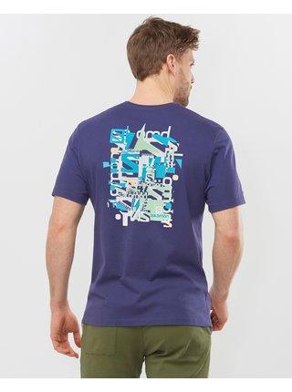 Tričká s krátkym rukávom pre mužov Salomon - modrá