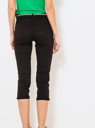 Čierne 3/4 slim fit nohavice s opaskom CAMAIEU