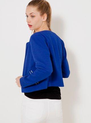 Modré dámske sako s ozdobným lemovaním CAMAIEU
