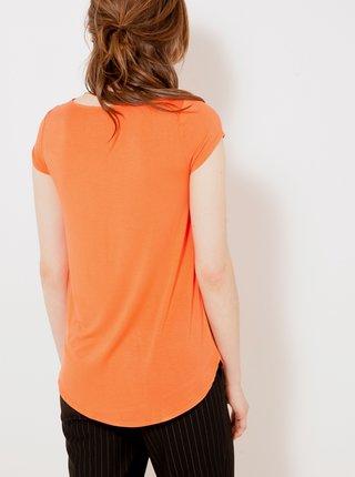 Oranžová blúzka CAMAIEU