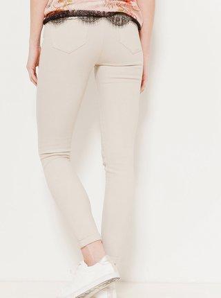 Krémové skinny fit nohavice CAMAIEU