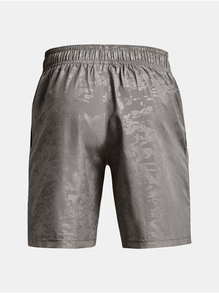 Kraťasy Under Armour UA Woven Emboss Shorts- šedá