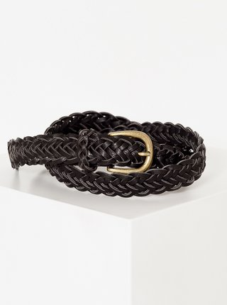 Čierny pletený opasok CAMAIEU