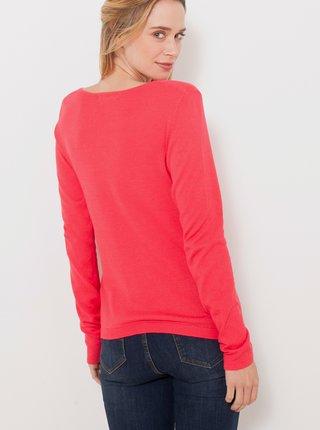 Růžový basic svetr CAMAIEU