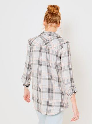 Šedivá kostkovaná košile CAMAIEU